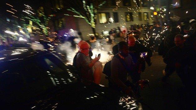 Demo gegen Trump (Bild: APA/AFP/ALD Photography/ANKUR DHOLAKIA)