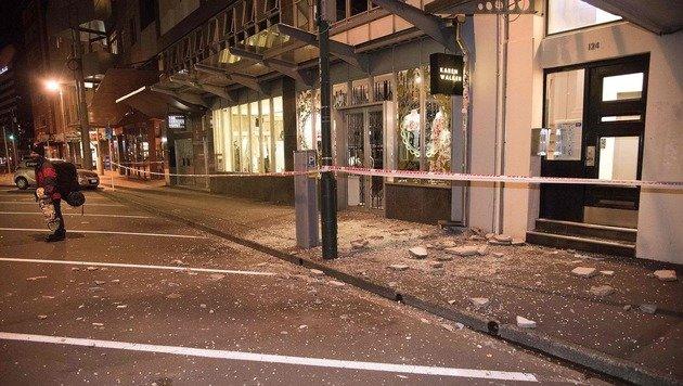 Auch aus Wellington auf der Nordinsel wurden Schäden gemeldet. (Bild: APA/AFP/MARTY MELVILLE)