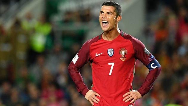 Ronaldo-Doppelpack bei Portugals 4:1 vs. Lettland (Bild: AFP)