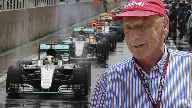"""Lauda stinksauer: """"Das ist der F1 nicht würdig!"""" (Bild: AP)"""