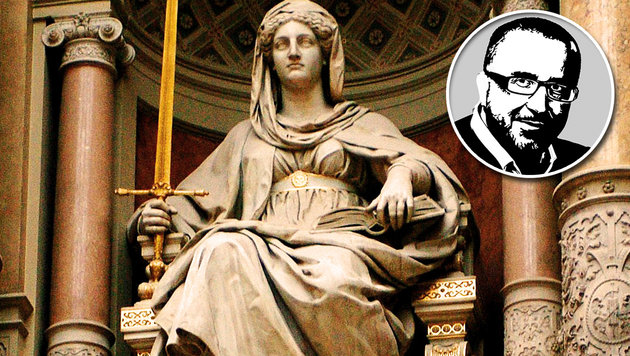 Madame Justitia, wir haben ein Problem (Bild: APA/BARBARA GINDL)