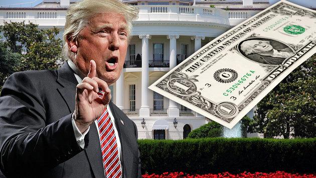 Nur ein Dollar: Trump verzichtet auf sein Gehalt (Bild: AP, thinkstockphotos.de)