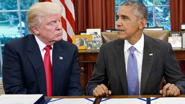 Obama soll 35 Mio. $ für Trumps Sicherheit zahlen (Bild: AP/Pablo Martinez Monsivais, APA/AFP/Brendan Smialowski)