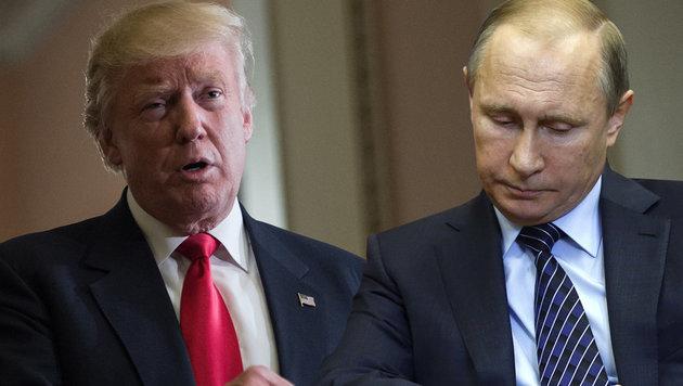 """""""Respekt da"""": Erstes Telefonat von Trump mit Putin (Bild: APA/AFP)"""