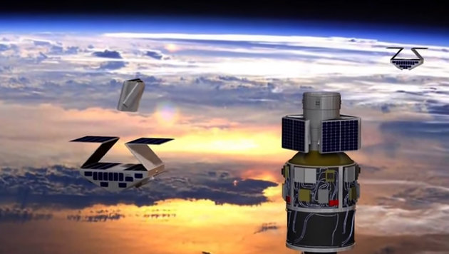 Mini-Satelliten blicken ins Auge von Hurrikanen (Bild: YouTube/ NASA Langley Research Center)