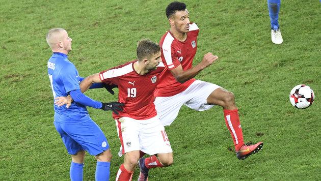 0:0-Grottenkick bei Österreich gegen Slowakei! (Bild: APA/ROBERT JAEGER)
