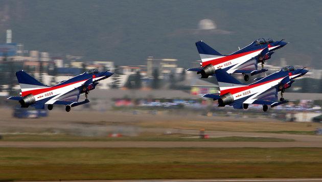 So kopiert China die Waffensysteme des Westens (Bild: STR/AFP/picturedesk.com)