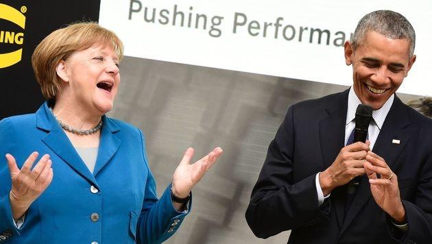 """Obama: """"Merkel war meine engste Verbündete"""" (Bild: APA/AFP/TOBIAS SCHWARZ)"""