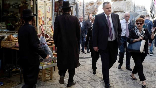 Doskozil in der Altstadt von Jerusalem (Bild: APA/BUNDESHEER/PUSCH)