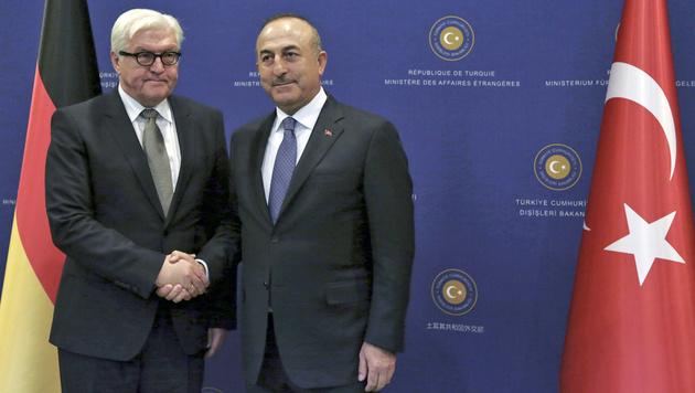 Bei Steinmeiers Türkei-Besuch flogen die Fetzen (Bild: ASSOCIATED PRESS)
