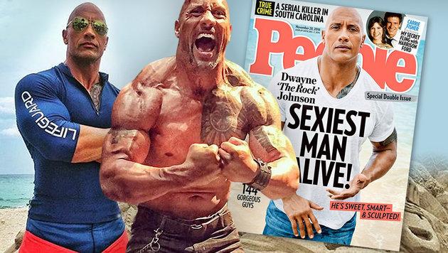 "Dwayne ""The Rock"" Johnson ist ""Sexiest Man Alive"" (Bild: Viennareport, People)"