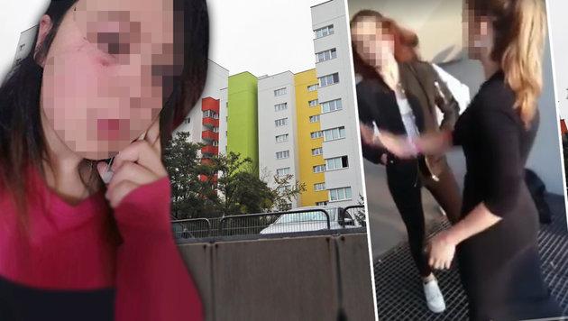 """Auch Marina (links) wurde von der 15-jährigen Leonie verprügelt. (Bild: """"Krone"""", Peter Tomschi, facebook.com)"""