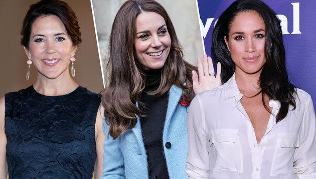 Hoppla, Drillinge! Drei Royals - ein Gesicht (Bild: APA/AFP/RICHARD POHLE, Viennareport)