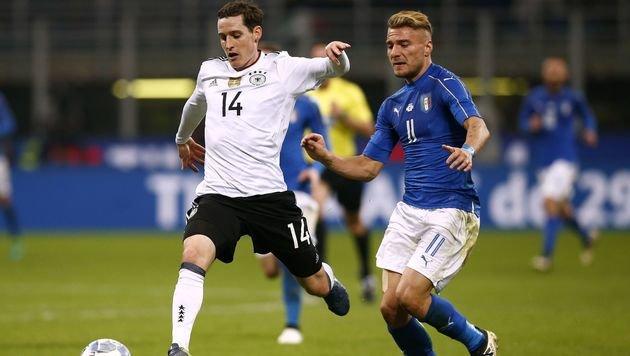 Kein Sieger bei Italien gegen Deutschland (Bild: APA/AFP/MARCO BERTORELLO)