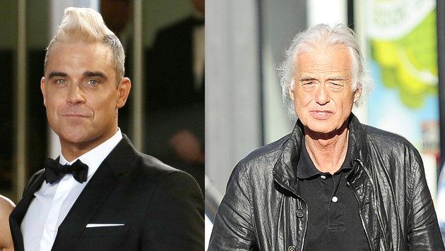 Robbie Williams und Jimmy Page bekriegen sich ... (Bild: Viennareport)
