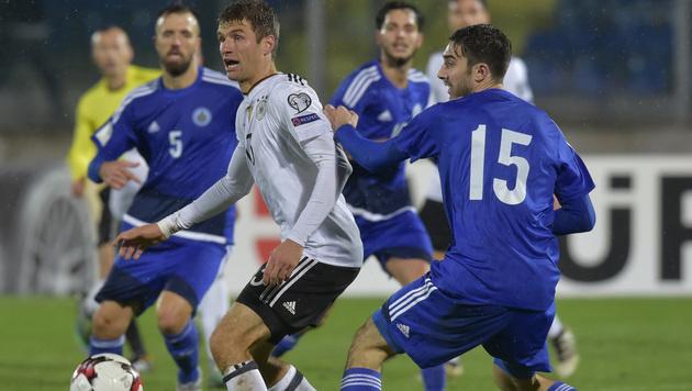 San Marino verspottet Thomas Müller nach Kritik (Bild: AP)
