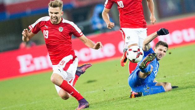 0:0-Grottenkick bei Österreich gegen Slowakei! (Bild: APA/GEORG HOCHMUTH)