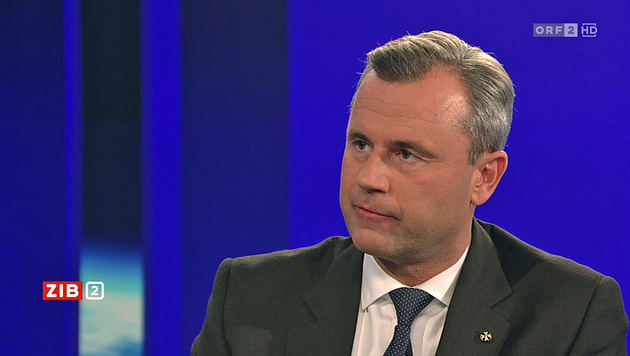 "Norbert Hofer in der ""ZiB 2"" (Bild: Screenshot/ORF)"