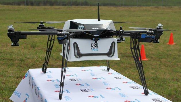 Fast-Food-Kette liefert Pizza per Drohne aus (Bild: AFP)