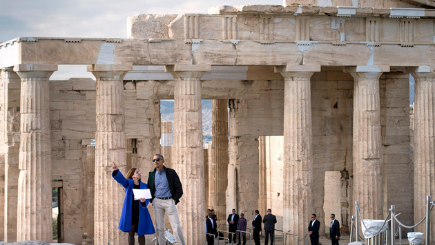 Obamas flammende Liebeserkärung an die Demokratie (Bild: APA/AFP/BRENDAN SMIALOWSKI)