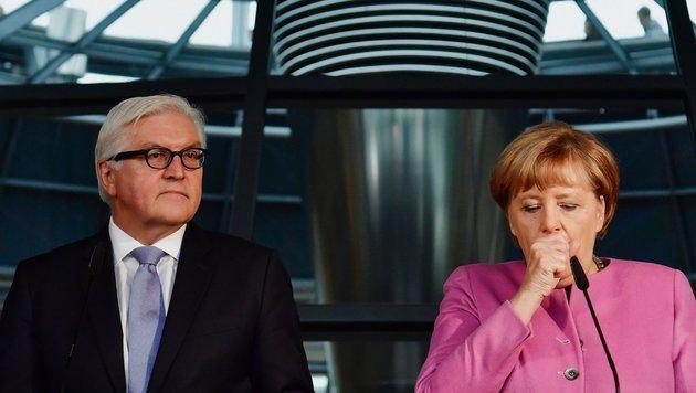 Steinmeier als Präsidentenkandidat vorgestellt (Bild: AFP)