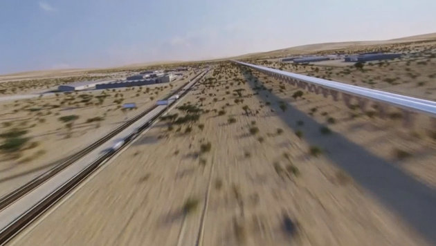 "Emirat Dubai baut ersten ""Hyperloop""-Zug (Bild: YouTube.com)"
