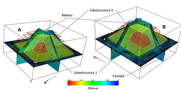 Uralte Strukturen in Maya-Pyramide entdeckt (Bild: UNAM)