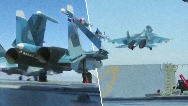 Russlands Flugzeugträger erstmals im Kriegseinsatz (Bild: instagram.com/war.footage)