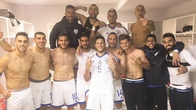 Das israelische Fußball-Team feierte einen 3:0-Sieg in Albanien (Bild: Facebook.com)
