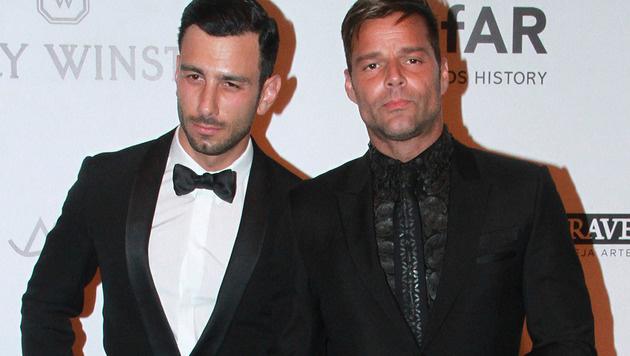Ricky Martin und sein Verlobter Jwan Yosef (Bild: Viennareport)
