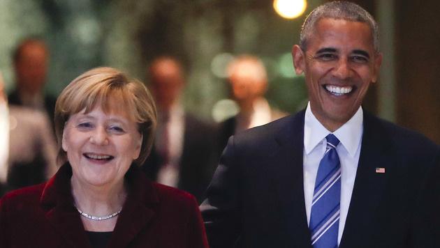"""Obama: """"Als Deutscher würde ich Merkel wählen"""" (Bild: The Associated Press)"""