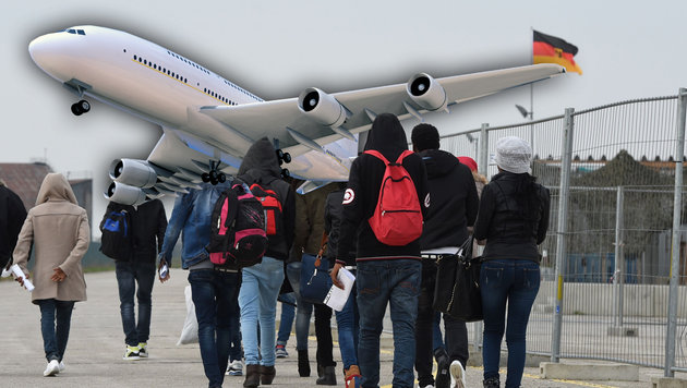 Asylwerber kommen jetzt per Charterflug (Bild: APA/AFP/CHRISTOF STACHE, thinkstockphotos.de)