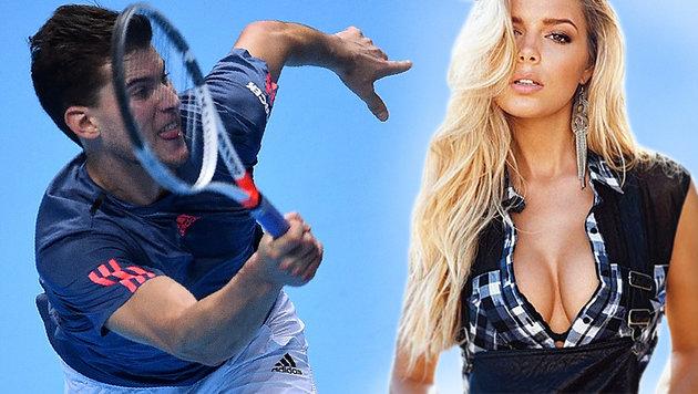 Dieses Model freute sich über Thiems Niederlage (Bild: AP, Facebook.com)