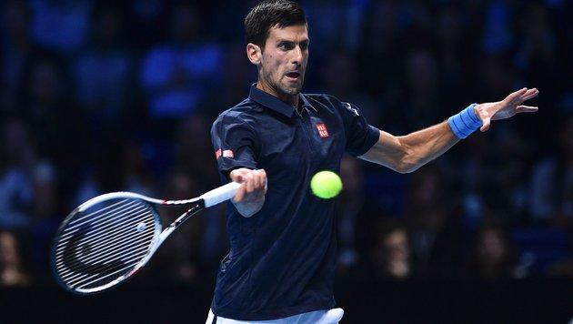 Djokovic lässt Ersatzmann Goffin keine Chance (Bild: APA/AFP/GLYN KIRK)