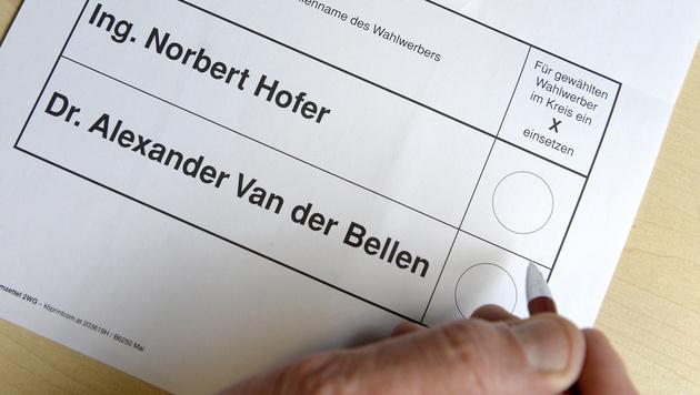 Hofburg-Stichwahl kostet mindestens 15 Millionen € (Bild: APA/HANS KLAUS TECHT)