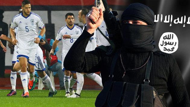 IS-Anschlag auf Israels Fußballteam vereitelt (Bild: EPA/MOHAMMED JALIL, thinkstockphotos.de, AP)
