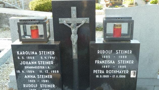 Das Grab von Petra Rothmayer am Friedhof in Linz-Ebelsberg. (Bild: Max Stöger)