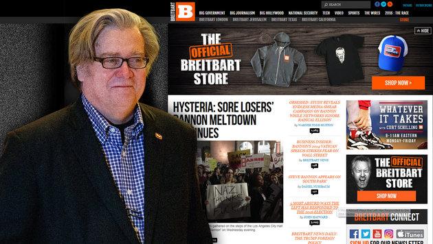 "Trump-Stimmungsmacher ""Breitbart"" will expandieren (Bild: AP, breitbart.com)"