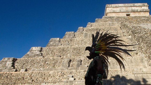 Uralte Strukturen in Maya-Pyramide entdeckt (Bild: APA/AFP/Pedro Pardo)