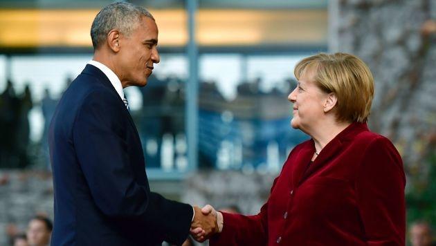 """Obama: """"Als Deutscher würde ich Merkel wählen"""" (Bild: AFP)"""
