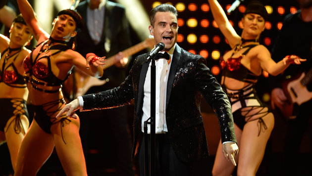 Robbie Williams feierte wie ein Russe. (Bild: AP)