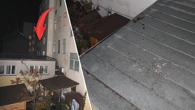Hier stürzte die Vierjährige aus dem Fenster. (Bild: Andi Schiel)