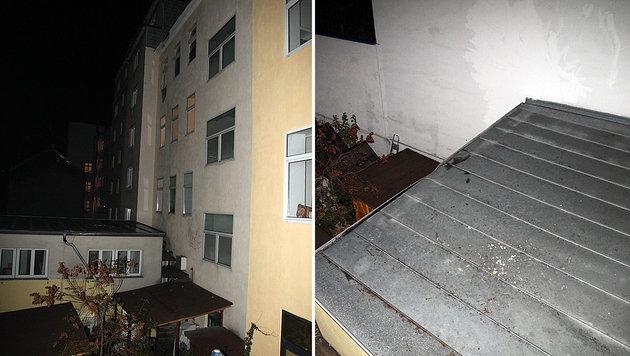 Die Vierjährige stürzte aus dem Fenster und schlug auf einem Blechdach auf. (Bild: Andi Schiel)