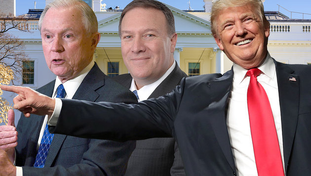 """Mauerbau-Enthusiast"" wird Trumps Justizminister (Bild: APA, AFP, thinkstockphotos.de, United States Congress)"
