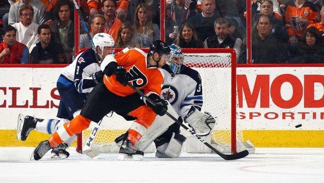 Raffl-Tor bei 5:2 der Flyers in Winnipeg (Bild: Getty Images)