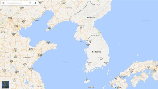 "Südkorea bleibt für Google Maps ""blinder Fleck"" (Bild: Google)"