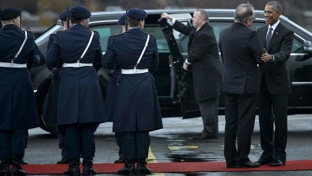 """Goodbye, Europe"": Obama beendete Berlin-Besuch (Bild: AFP)"