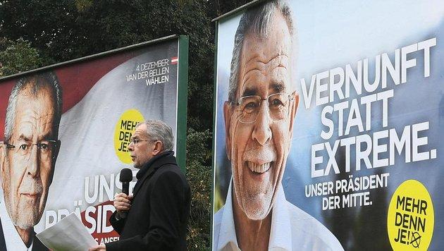 Van der Bellen stellt zweite Plakatwelle vor (Bild: APA/HELMUT FOHRINGER)