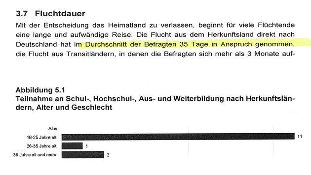 Flüchtlinge zahlten 3,8 Milliarden € an Asylmafia (Bild: Institut für Arbeitsmarkt- und Berufsforschung)