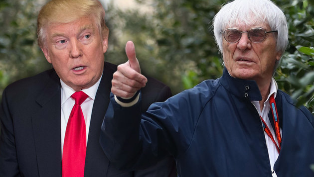 """Ecclestone über Trump: """"Gut für die Welt!"""" (Bild: AFP/Lars Baron, AFP/NICHOLAS KAMM)"""